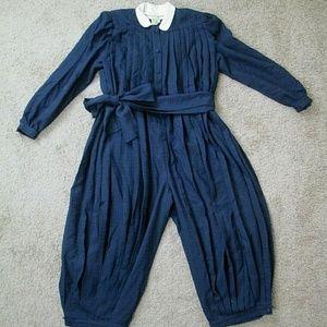Prue Acton Romper Jumpsuit Pleated Vintage Fashion
